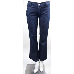 7 For All Mankind Flare Cropped Blue Jean Pants 27